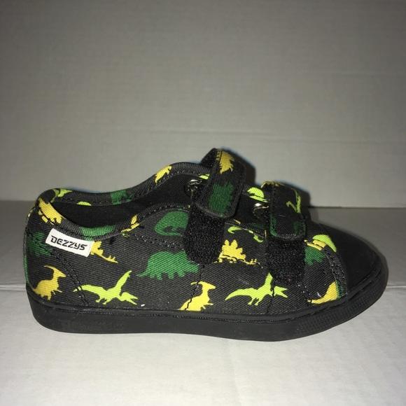 Dezzys Dinosaur Print Velcro Sneaker Size 8